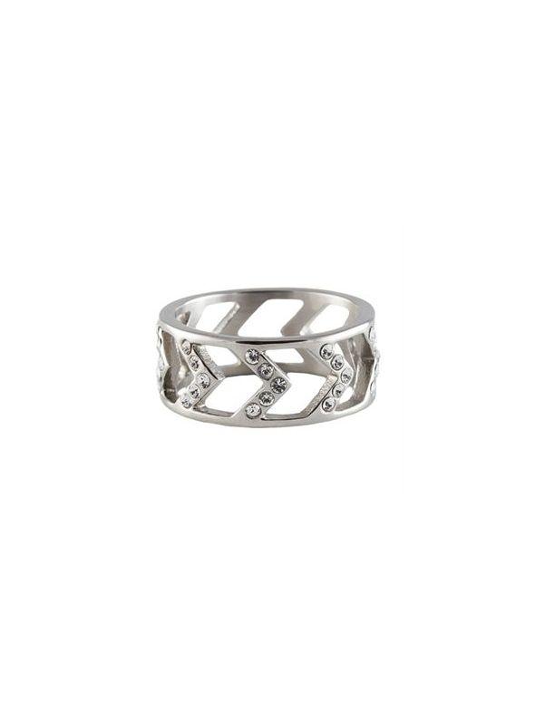 Silver Chevron Ring - Size 7