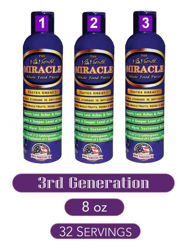 ViaViente Miracle   8oz   Bottle 3 pack