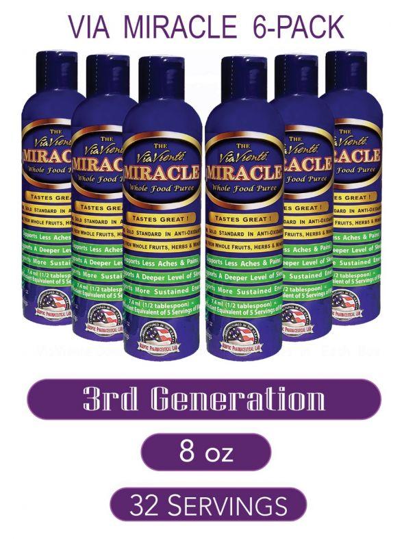 ViaViente Miracle   8oz   Bottle   6 pack
